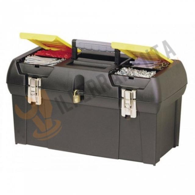 Stanley cassetta porta attrezzi in metallo 1 92 066 il - Cassetta porta attrezzi stanley con ruote ...